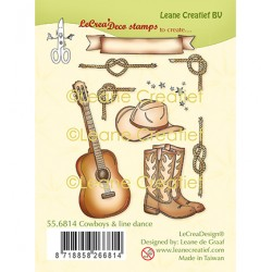 (55.6814)Clear Stamp combi Cowboys & line dance