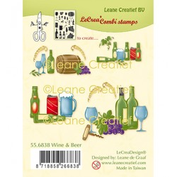 (55.6838)Clear Stamp combi Wine & Beer