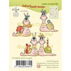 (55.6845)Clear Stamp combi Snail couple