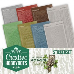 (CHSTS006)Creative Hobbydots 6 - Amy Design - Amazing Owls - Sticker Set