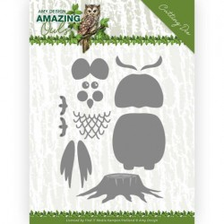 (ADD10216)Dies - Amy Design - Amazing Owls - Build up Owl