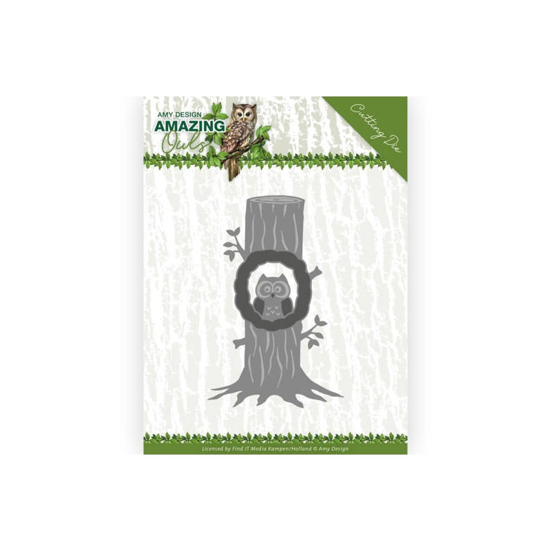 (ADD10218)Dies - Amy Design - Amazing Owls - Owl in Tree