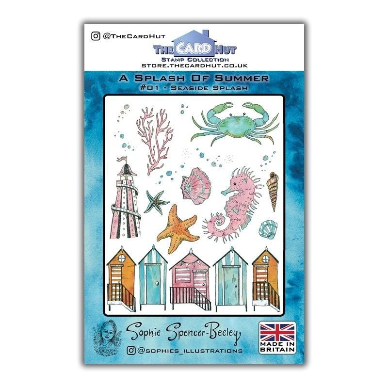 (SSB001)The Card Hut Seaside Splash Clear Stamps