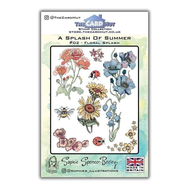 (SSB002)The Card Hut Floral Splash Clear Stamps