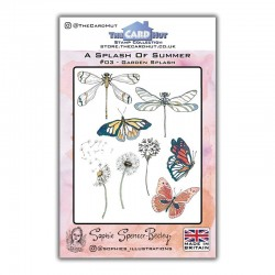 (SSB003)The Card Hut Garden Splash Clear Stamps