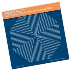 (GRO-PA-41605-03)Groovi Plate A5 26 NESTED OCTAGON