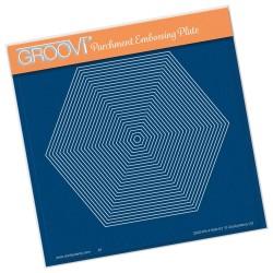 (GRO-PA-41604-03)Groovi Plate A5 26 NESTED HEXAGON