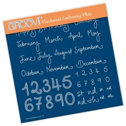 (GRO-WO-41606-03)Groovi Plate A5 BARBARA'S MONTHS AND NUMBERS