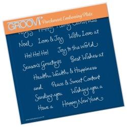 (GRO-WO-41608-03)Groovi Plate A5 BARBARA'S CHRISTMAS SENTIMENTS