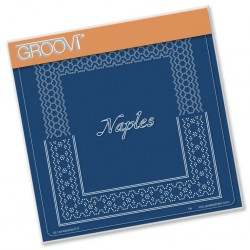(GRO-GG-41585-12)Groovi Grid Plate ITALIAN CITIES DIAGONAL LACE GRID DUETS - NAPLES