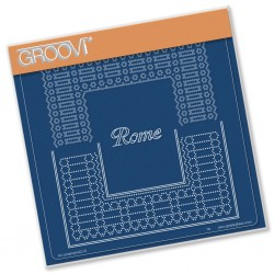 (GRO-GG-41583-03)Groovi Grid Plate ITALIAN CITIES DIAGONAL LACE GRID DUETS - ROME