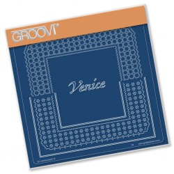 (GRO-GG-41586-12)Groovi Grid Plate ITALIAN CITIES DIAGONAL LACE GRID DUETS - VENICE