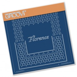(GRO-GG-41584-12)Groovi Grid Plate ITALIAN CITIES DIAGONAL LACE GRID DUETS - FLORENCE