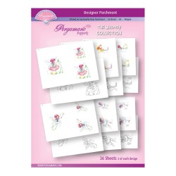 (PER-PA-70391-A4)PERGAMANO - A4 PARCHMENT POPPETS - WHIMSY COLLECTION - ARTWORK BY MARINA FEDOTOVA