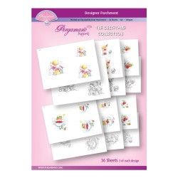 (PER-PA-70393-A4)PERGAMANO - A4 PARCHMENT POPPETS - CHRISTMAS COLLECTION - ARTWORK BY MARINA FEDOTOVA