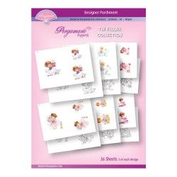 (PER-PA-70392-A4)PERGAMANO - A4 PARCHMENT POPPETS - FLOWER COLLECTION - ARTWORK BY MARINA FEDOTOVA
