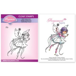(PER-ST-70381-A6)Pergamano clear stamp WHIMSY POPPETS