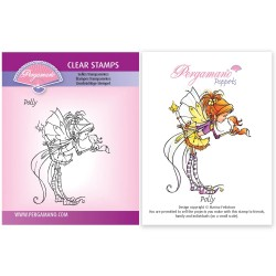 (PER-ST-70386-A6)Pergamano clear stamp WHIMSY POPPETS - POLLY STAMP