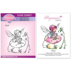 (PER-ST-70382-A6)Pergamano clear stamp WHIMSY POPPETS - PIXIE STAMP