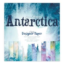 """(ACC-CA-31032-88)GROOVI DESIGNER CRAFT PAPER 8"""" X 8"""" ANTARCTICA"""