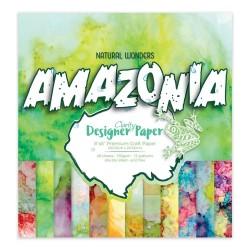 """(ACC-CA-31034-88)GROOVI DESIGNER CRAFT PAPER 8"""" X 8"""" AMAZONIA"""