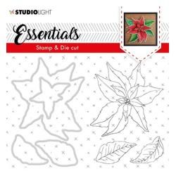(BASICSDC47)Studio light Stamp & Die Cut Christmas Rose Essentials 47