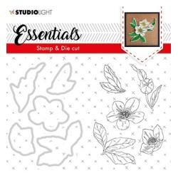 (BASICSDC48)Studio light Stamp & Die Cut Christmas Rose Essentials 48
