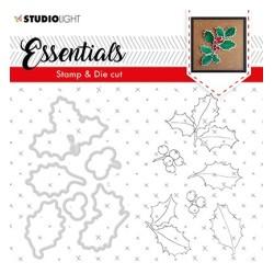(BASICSDC50)Studio light Stamp & Die Cut Christmas Rose Essentials 50