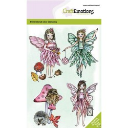 (130501/0101)CraftEmotions clearstamps A6 - Fairies GB Dimensional stamp