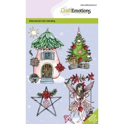 (130501/0102)CraftEmotions clearstamps A6 - Fairy house GB Dimensional stamp