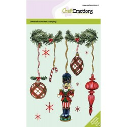 (130501/0104)CraftEmotions clearstamps A6 - Christmas deco. nutcracker GB Dimensional stamp