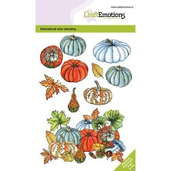 (130501/0106)CraftEmotions clearstamps A6 - Pumpkins and gourds GB Dimensional stamp