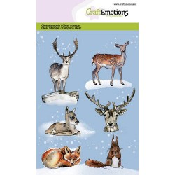 (130501/0107)CraftEmotions clearstamps A6 - Animals from the forest GB