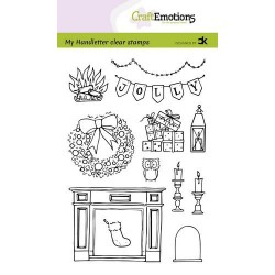 (130501/2203)CraftEmotions clearstamps A6 - handletter - X-mas decorations 2 (Eng) Carla Kamphuis