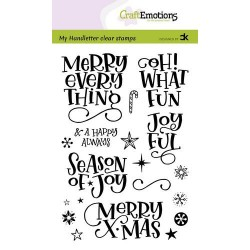 (130501/2201)CraftEmotions clearstamps A6 - handletter - Merry X-mas (Eng) Carla Kamphuis