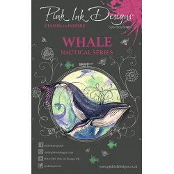 (PI020)Pink Ink Desings Whale