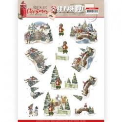 (SB10482)3D Push Out - Amy Design - Nostalgic Christmas - Christmas Village