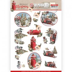 (SB10485)3D Push Out - Amy Design - Nostalgic Christmas - Christmas Train