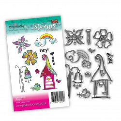 (PD8054)Polkadoodles Rainbow Wishes Clear Stamps