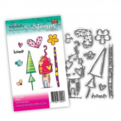 (PD8055)Polkadoodles Home Grown Clear Stamps