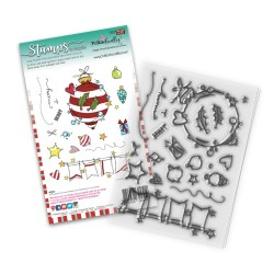 (PD8081)Polkadoodles Baubles & Banners Christmas Clear Stamps