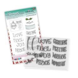 (PD8082)Polkadoodles Heartfelt & Joy Christmas Text Clear Stamps