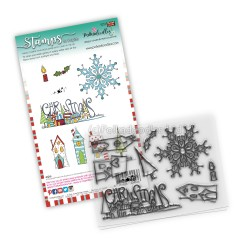 (PD8083)Polkadoodles Christmas Scenes Clear Stamps