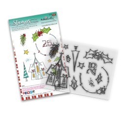 (PD8084)Polkadoodles Holly Blessings Clear Stamps