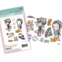 (PD8087)Polkadoodles Happy Halloween Clear Stamps