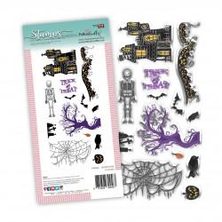 (PD8109)Polkadoodles Spooky Time Clear Stamps