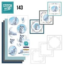 (STDO143)Stitch and Do 143 - Amy Design - Winter Foxes