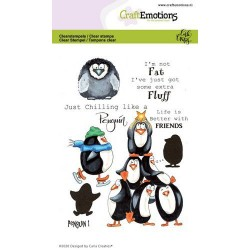 (1693)CraftEmotions clearstamps A6 - Penguin 1 Carla Creaties
