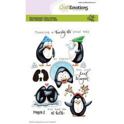 (1694)CraftEmotions clearstamps A6 - Penguin 2 Carla Creaties