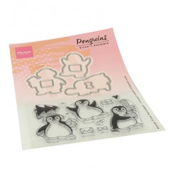 (ec0185)Clear Stamp Eline's Animals - Penguins